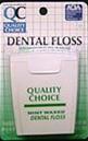 Quality Choice Waxed Dental Floss 100 yd