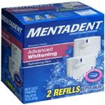 Arm and Hammer Mentadent Advanced Whitening  Refreshing Mint 2 Refills 5.25 oz each