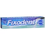 Fixodent Soothing Mint Denture Adhesive Cream 2.2 oz