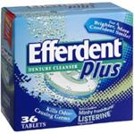EFFERDENT PLUS Anti-Bacterial Denture Cleanser 36 mint fresh