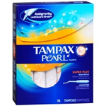 Tampax Pearl Super Plus Tampons (18 Ct.)