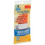 QC Single Blade Disposable Shavers (12 Pk.)
