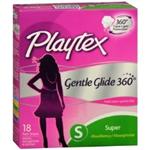 Playtex Gentle Glide 360 Super Plastic Tampons (18 Ct.)