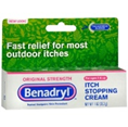 ORIGINAL STRENGTH BENADRYL ITCH STOPPING CREAM FOR MOST OUTDOOR ITCHES