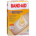 BAND-AID EXTRA LARGE ANTIBIOTIC GREAT FOR KNEES AND ELBOWS