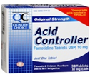 QC ACID CONTROLLER 30 TABLETS