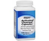 ACTIVATED CHARCOAL CAPSULES 100 CAPS
