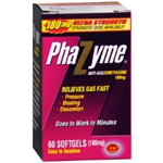 Phazyme Anti-Gas Simethicone 180 mg 60 soft gels