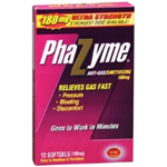 Phazyme Anti-Gas Simethicone 180 mg 12 soft gels