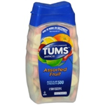 TUMS Assorted Fruit Regular Strength 500- 150 Chewable Tablets