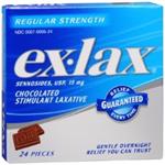 Ex-Lax Chocolated Stimulant Laxative Regular Strength 24 Pieces